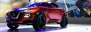 Die Studie des Nissan Gripz kennt man schon von der IAA. Allerdings wirkt der zwischen all den anderen Studien in Tokio noch einmal um ein Vielfaches futuristischer.