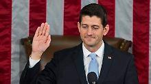 Paul Ryan liegt mit 236 Stimmen weit vor seiner demokratischen Konkurrentin, Nancy Pelosi.