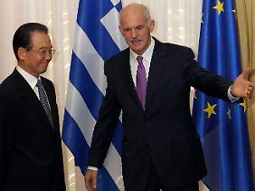 Papandreaou bekommt mit Wen eine helfende Hand aus dem Osten.