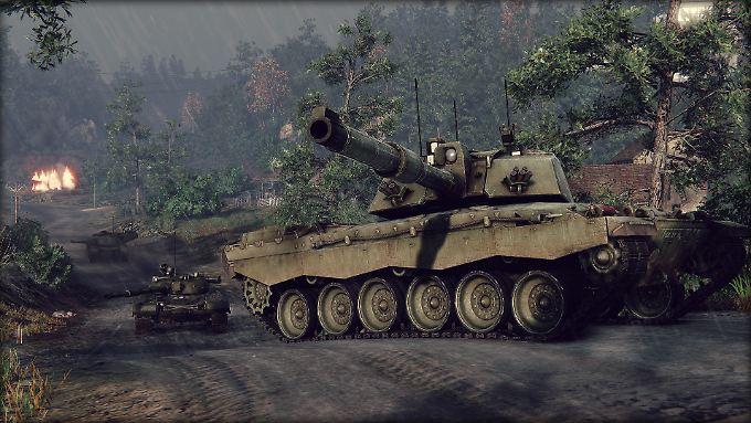 """Detailgetreu: Einer der Panzer in """"Armored Warfare""""."""