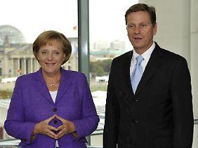 Angela Merkel und der Liberale Guido Westerwelle wollten eigentlich ein politisches Traumpaar sein. Es blieb beim Wunsch.