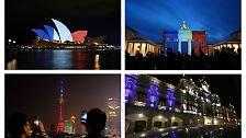 Nous sommes Paris: Die Welt zeigt Flagge