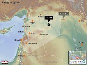 """IS-Hochburg am Euphrat: Rakka gilt als wichtigster Rückzugsort des """"Islamischen Staates""""."""