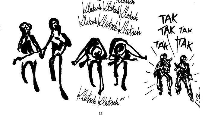 """Das Attentat auf """"Charlie Hebdo"""": Terroristen werden zu Tänzern - und dann wieder zu Terroristen."""