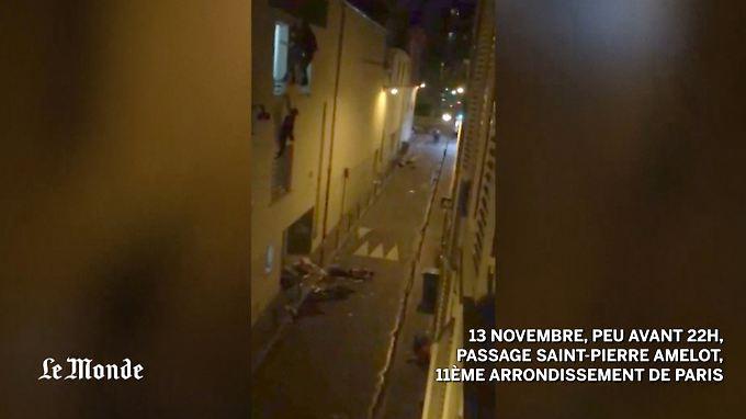 Die schwangere Frau versucht, aus dem Fenster zu fliehen - dann drohen sie die Kräfte zu verlassen.
