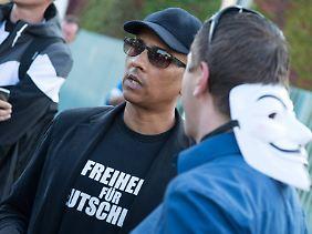 """""""Freiheit für Deutschland"""": Naidoo am 3. Oktober 2014 in Berlin."""