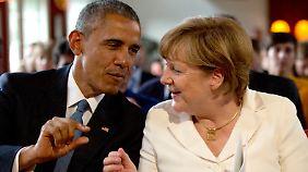 Obama und Merkel sehen sich bald wieder.