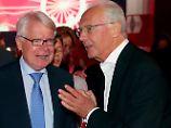 Sie wollen das klären: Reinhard Rauball und Franz Beckenbauer.