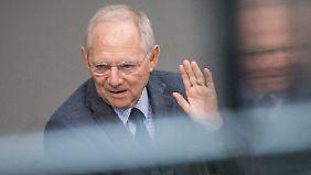 Schäuble hält das Geld beisammen.
