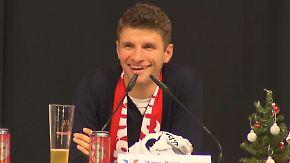 Hoher Besuch bei kleinem Fanclub: Thomas Müller plaudert über Zukunft beim FC Bayern