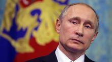 """Russlands Präsident Wladimir Putin erklärte, Moskau werde """"seine Interessen verteidigen""""."""