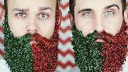 Doch mit dem weihnachtlichen Glitzerbart haben sie offenbar einen Nerv getroffen.