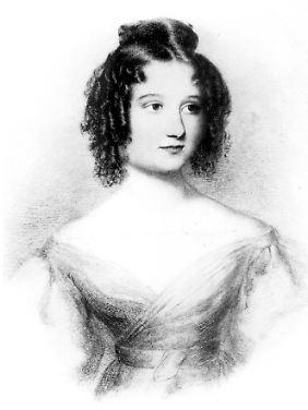 Ada Augusta, Countess of Lovelace, in einer zeitgenössischen Darstellung.