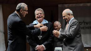 Vom Wunder der Freundschaft: Gauck findet in Israel sehr persönliche Worte