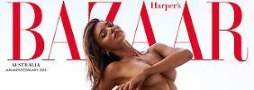 "Wer braucht schon den ""Playboy""?: Miranda Kerr nackt bei ""Harper's Bazaar"""