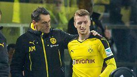 BVB-Star Marco Reus droht mit Adduktorenproblemen für den Rest der Hinrunde auszufallen.