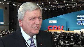 """Bouffier beim CDU-Parteitag: """"Die Flüchtlingszahlen müssen deutlich runter"""""""