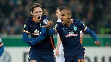 Leverkusen kuriert Haching-Trauma: Bremen gewinnt Pokalspektakel in Gladbach