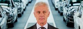 """Matthias Müller will """"interne Entscheidungswege"""" beschleunigen."""