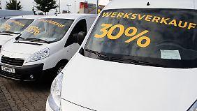 Rabatte bis zu 30 Prozent: Autohändler liefern sich Preisschlacht