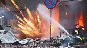"""""""Es sieht aus wie im Krieg"""": Feuerwerks-Verkaufsstand in Swinemünde explodiert"""