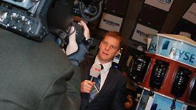 Lars Halter bei der Arbeit für n-tv