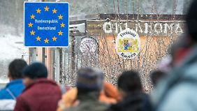 Die meisten Flüchtlinge erreichten Deutschland über Bayern.