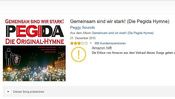 Screenshot der Produktseite bei Amazon.