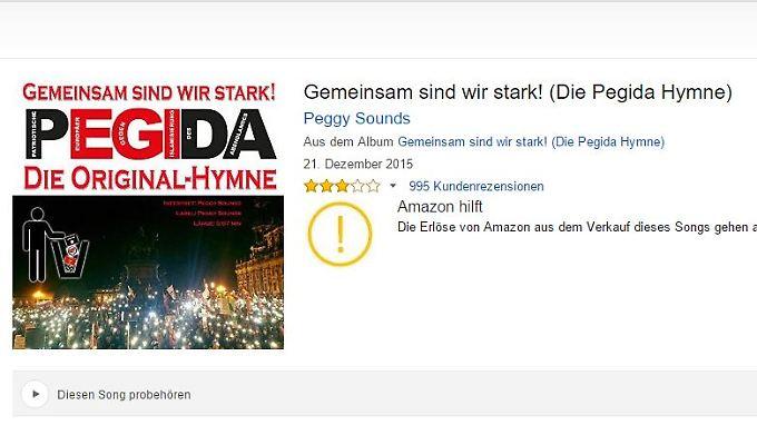 Screenshot der Produktseite bei Amazon.