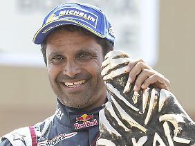 Der Katarer Nasser Al-Attiyah ist Titelverteidiger.