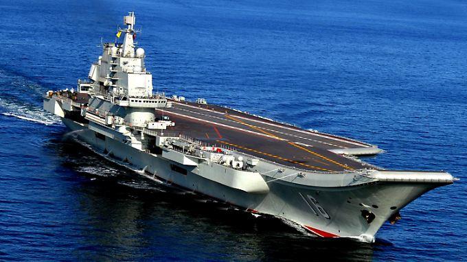 """Der Flugzeugträger """"Liaoning"""" war noch ein Weiterbau eines russischen Schiffes."""