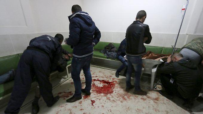 Viele Tote nach einem Anschlagsserie in Kamischli.