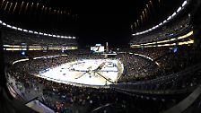 ... standen sich gegenüber: die Boston Bruins …