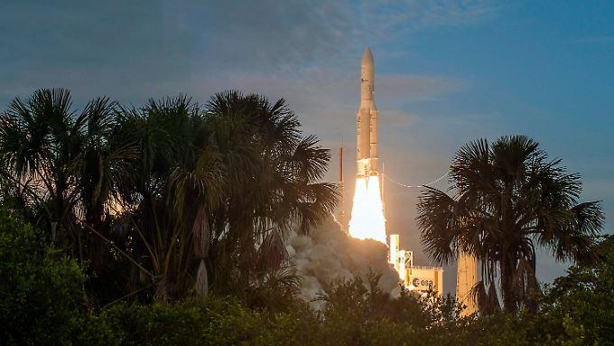 Auf dem Weltraumbahnhof Kourou in Französisch-Guayana war 2015 so viel los wie noch nie.