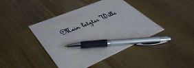 Zweifel am letzten Willen: Testament auf kleinem Zettel ist ungültig