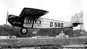 5 Passagiere bei 1. Linienflug: Deutsche Lufthansa wird 90 Jahre alt