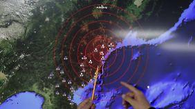 Militärische Machtdemonstration: Nordkorea meldet ersten Test einer Wasserstoffbombe