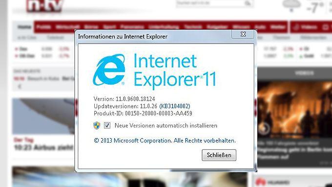 Ab dem 12. Januar gibt's Support nur noch für die aktuelle IE-Version.