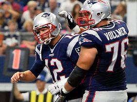 Sebastian Vollmehr, der Bodyguard von Patriots-Star Tom Brady, meldete sich zum Playoff-Start zurück.