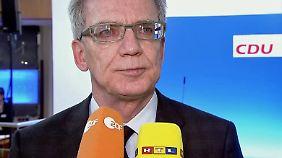 Nach Übergriffen zu Silvester: De Maizière rechnet mit rascher Asylrechtseinigung mit Maas