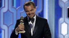 Golden Globes verliehen: DiCaprio und Lawrence räumen ab