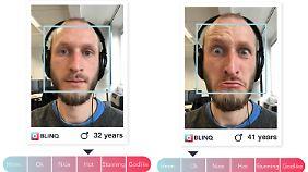 Zwei Testfotos für die Schönheitserkennungs-Software von blinq.