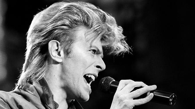 David Bowie 1987. Seine Frisuren waren ebenso vielfältig wie seine Musik.