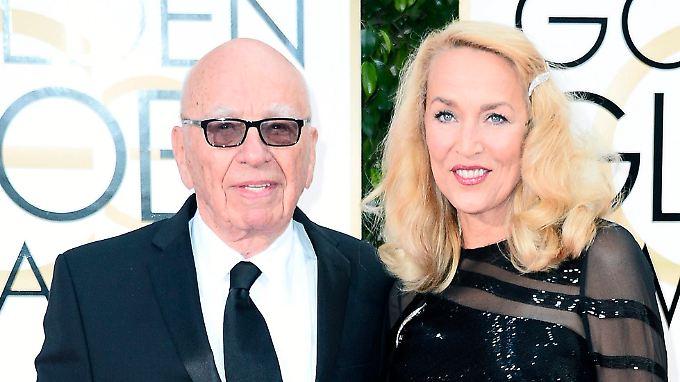 Bei der Verleihung der Golden Globes zeigten sich Rupert Murdoch und Jerry Hall gemeinsam.