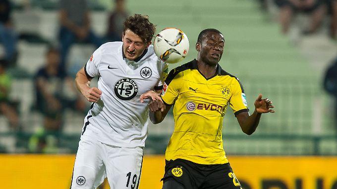 BVB-Ersatzstürmer Adrian Ramos traf doppelt gegen Frankfurt.