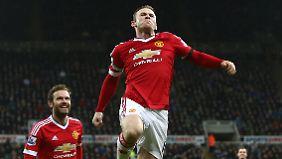 Wayne Rooney konnte den Tabellenplatz seiner Mannschaft trotz starker Leistung nicht halten.