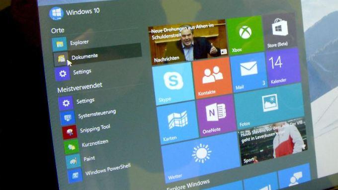 Windows 10 ist für alle Microsoft-Produkte geeignet.