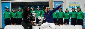 Die Titelverteidiger: Serena Williams und Novak Djokovic erwischen leichte Auftaktgegner.