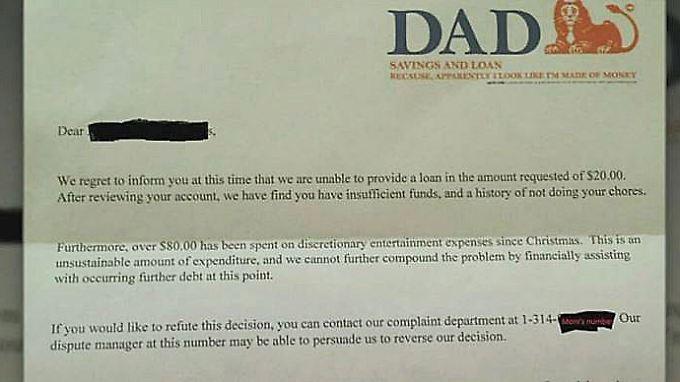 Kaum zu glauben, aber wahr: DAD-Bank verweigert Sechsjährigem Taschengeldvorschuss