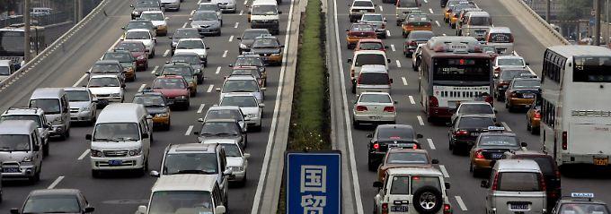 Autoverkehr in der Hauptstadt Peking.